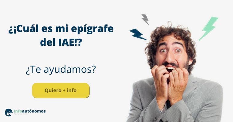 Hombre preocupado por desconocer cuál es su epígrafe del IAE. ¿Te ayudamos? Publicidad asesoría