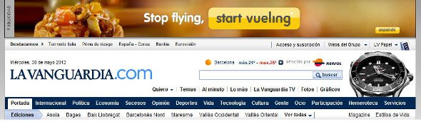 Ejemplo de marketing de afiliación en La Vanguardia