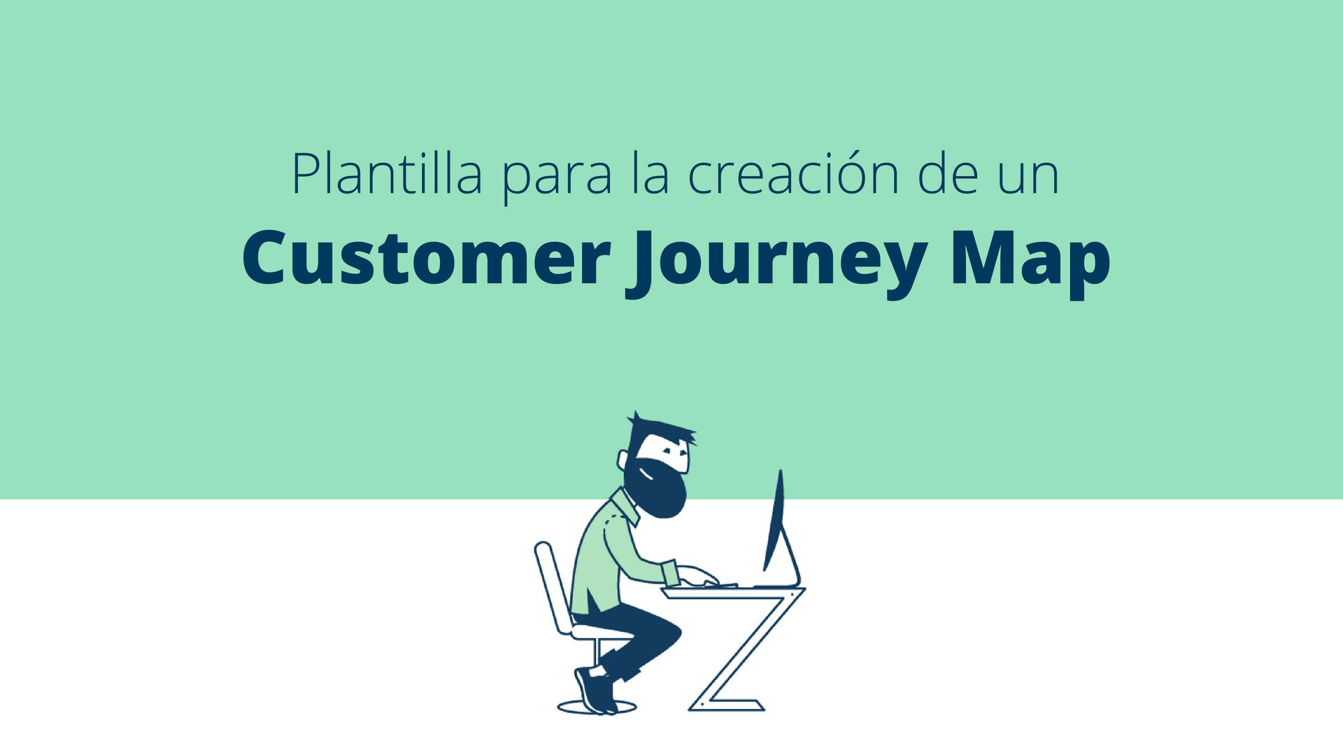 Plantilla de un Customer Journey map