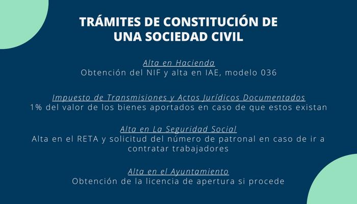 Constitución de una Sociedad Civil