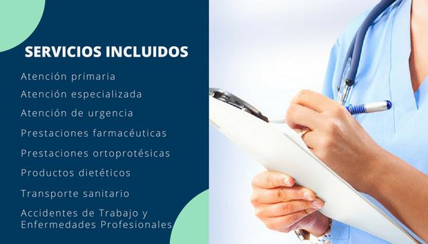 Servicios incluidos en la asistencia sanitaria