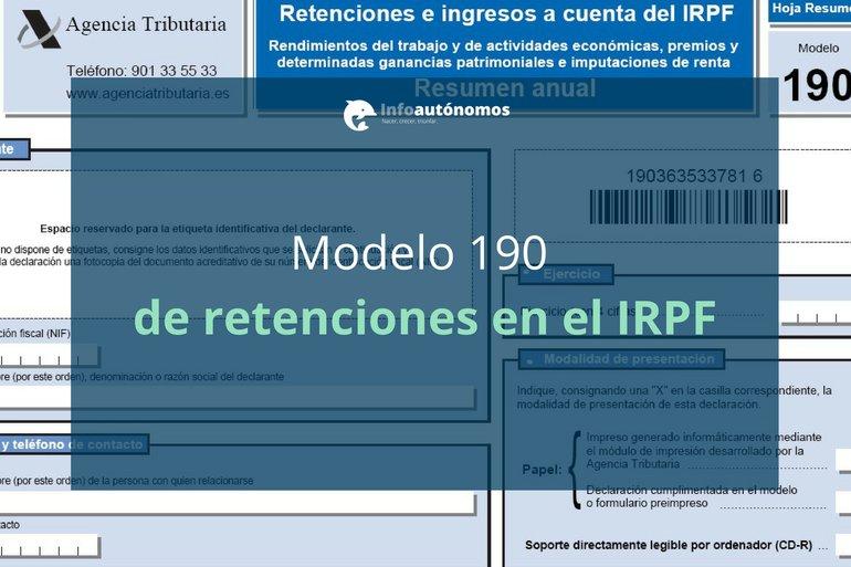 Modelo 190 de retenciones en el IRPF