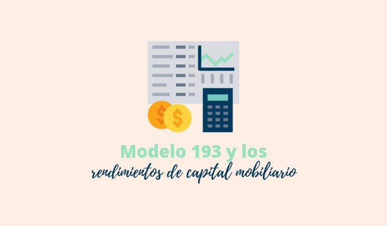 Modelo 193: retenciones de rentas de capital mobiliario