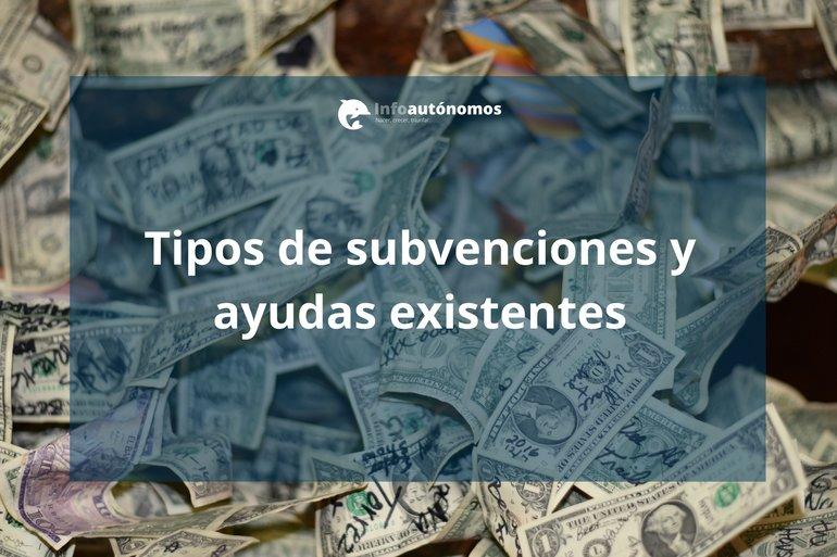 Tipos de subvenciones y ayudas existentes