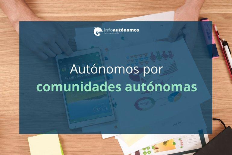 Distribución de los autónomos por comunidades autónomas