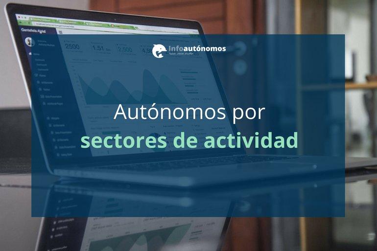 Distribución de los autónomos por sectores de actividad