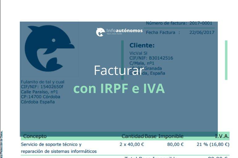 Facturar con IRPF e IVA