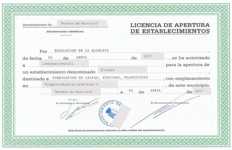 licencia de apertura y actividad infoaut nomos
