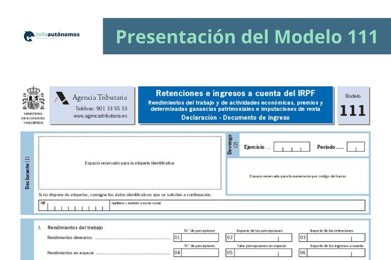 Cómo rellenar el modelo 111 del IRPF