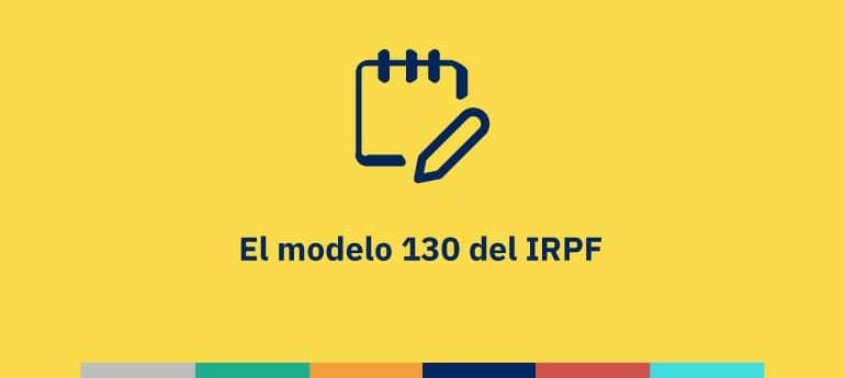El modelo 130 del IRPF del autónomo