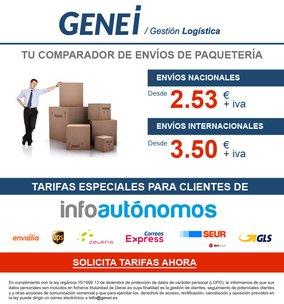 Genei.es, los mejores precios para envíos nacionales e internacionales
