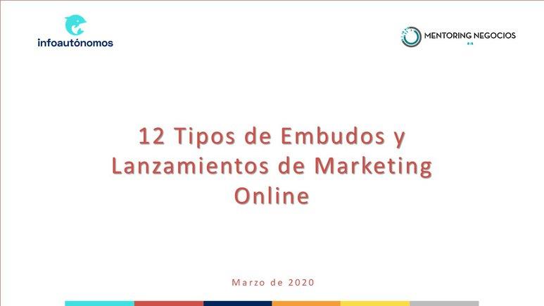 12 embudos y lanzamientos de marketing online